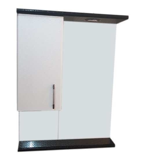 ПВЦ огледало за баня с лед осветление в бяло и черно 55 см