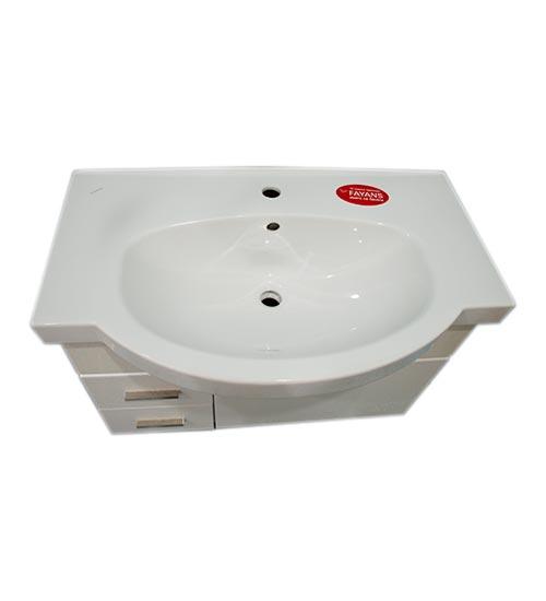 ПВЦ конзолен шкаф с мивка за баня хилтон 80 см