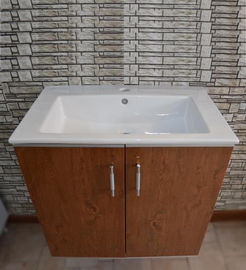 ПВЦ комплект мебели за баня орех 65 см