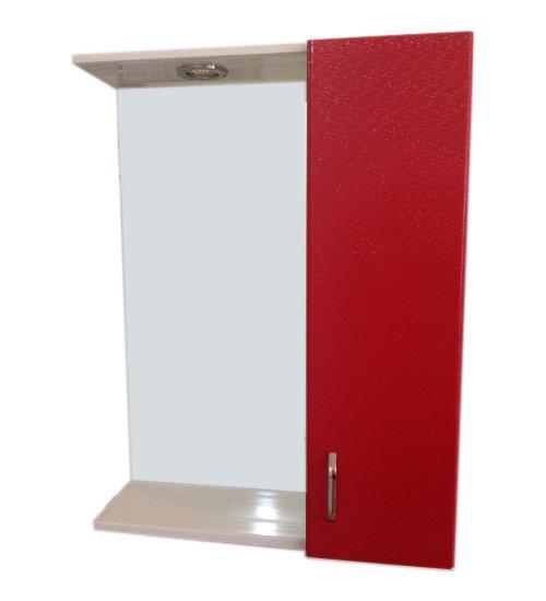 ПВЦ огледало за баня в червено 55 см