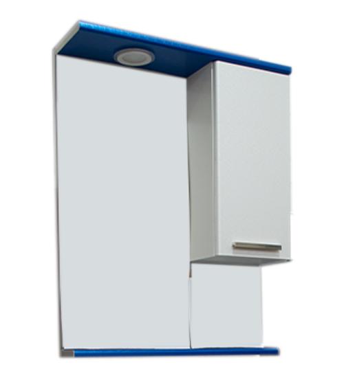 ПВЦ огледло за баня с лед осветление в синьо 55 см