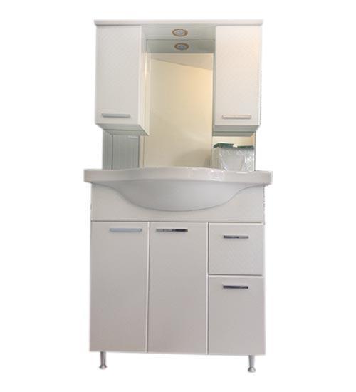 ПВЦ комплект мебели за баня бели лале 80
