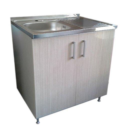 ПВЦ шкаф за кухня с алпака мивка бежов mt500