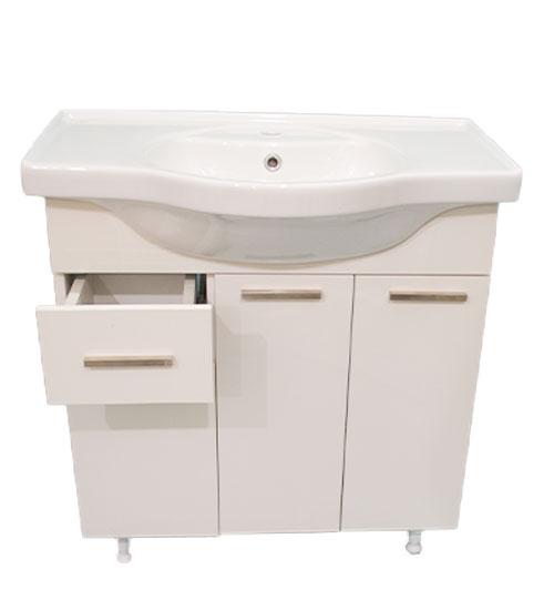 ПВЦ долен шкаф с мивка за баня лале 80 см