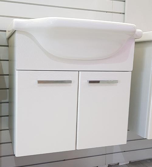 ПВЦ конзолен шкаф с мивка за баня 55 см хилтън