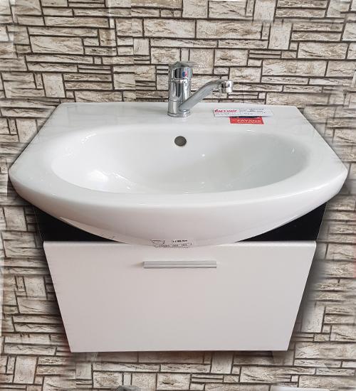 ПВЦ висящ шкаф с мивка за баня мароко K 55 см