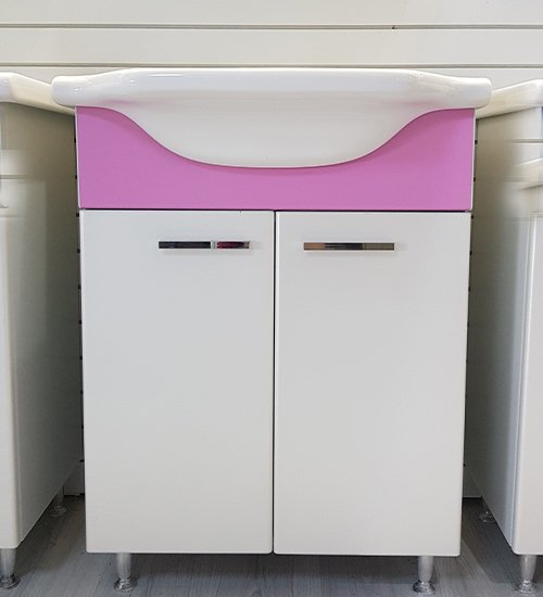 ПВЦ долен шкаф с мивка за баня роуз 55 см