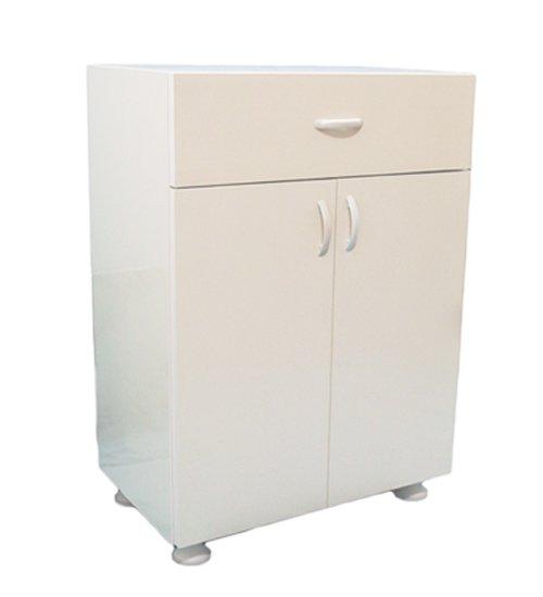 ПВЦ шкаф с чекмедже за тераса бяло, бежово, кафяво