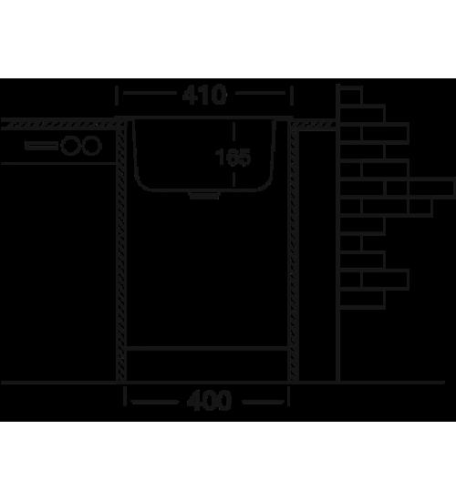 Алпака мивка за кухня 41 х 44 см EC179