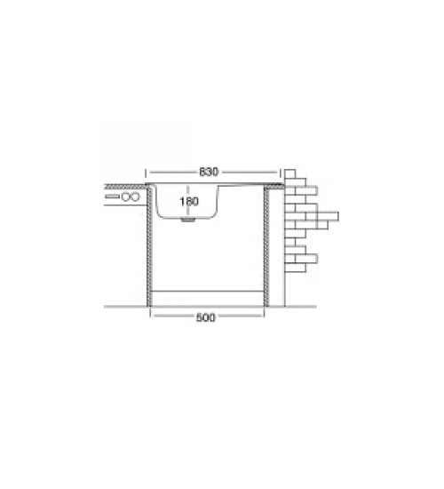 Алпака мивка за кухня с отцедник 48 х 83 см EX153