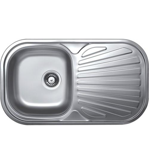 Алпака мивка за кухня с отцедник 48 х 83 см EX152