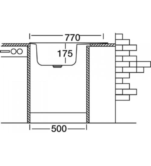 Алпака мивка за кухня за вграждане 48 х 77 см EX160