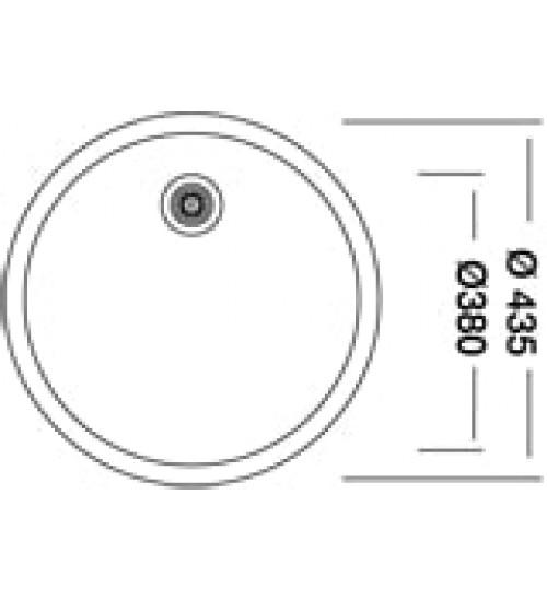 Кръгла мивка за кухня неръждаема Ф43.5 KR-EX192