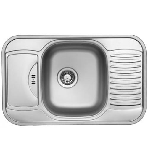 Алпака мивка за кухня с два отцедника 49 х77,5 см UK185