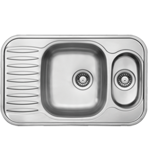Двойна алпака мивка за кухня 49 х 78 см UK186