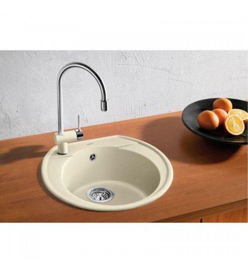 Кръгла гранитна мивка за кухня Blanco Rondoval 45