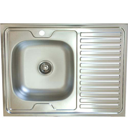 Бордова мивка за кухня върху плот 60 x 80 см EC120