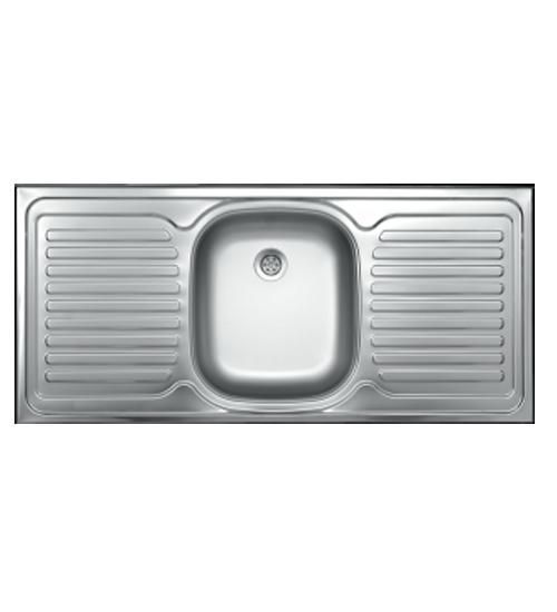 Бордова мивка от алпака за кухня двойна 50 х 110 см ec122