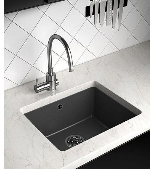 Гранитна мивка за кухня Hilton 43 х 45 см - Бял, Черен, Сив, Бежов