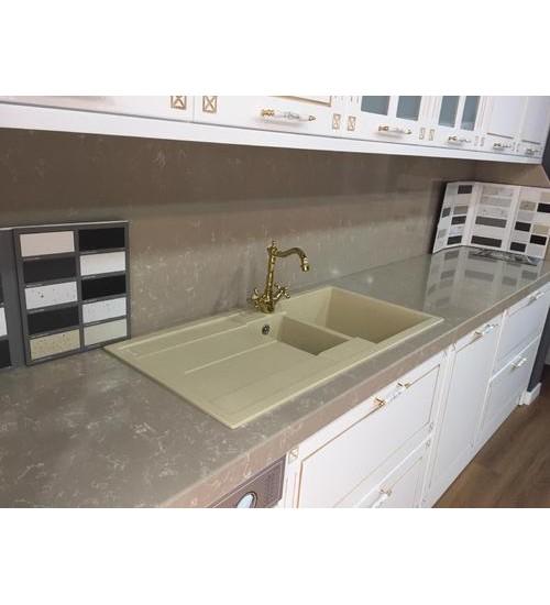 Двойна цветна гранитна мивка за кухня Para 50 х 100 см