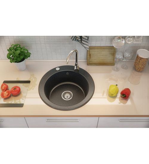 Гранитна мивка кръгла с голямо корито Mag 51 см