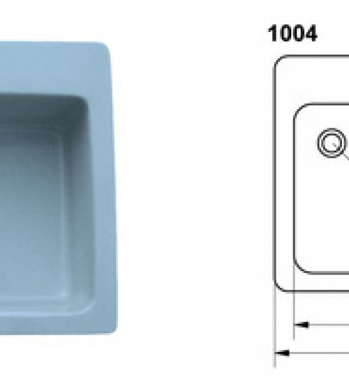Полимерна (Гранитна) Мивка 1004