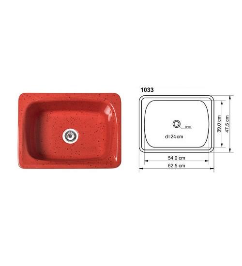 Полимермраморна мивка за кухня Viva
