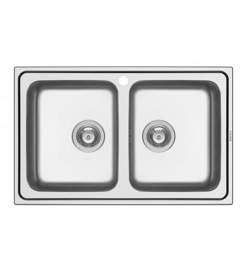 Алпака мивка за кухня Alea с две корита 79 x 50