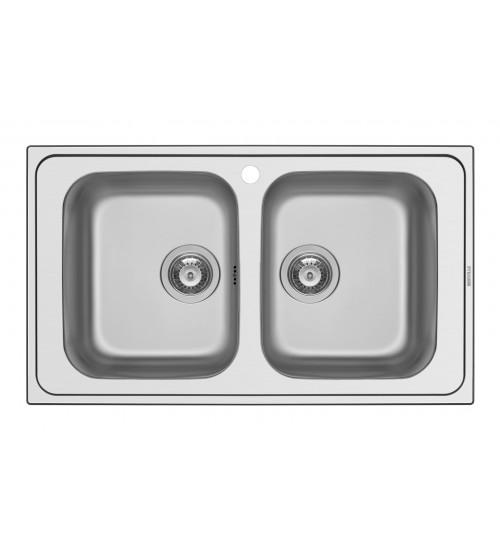Алпака мивка за кухня Athena с две корита 86 x 50