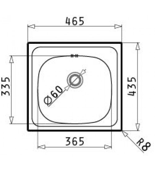 Алпака мивка за кухня E33 46 x 43