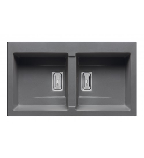 Гранитна мивка за кухня Kartesio с двойно корито 86 х 50