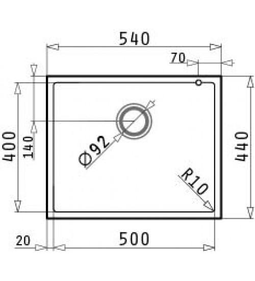 Гранитна мивка за кухня Tetragon 50 х 40
