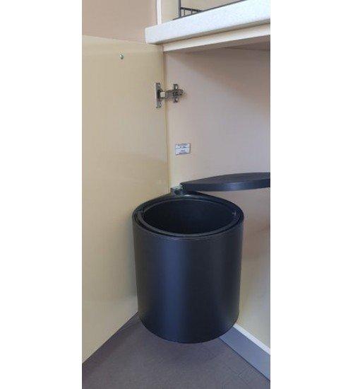 Кухненски кош за вграждане под мивка Lot черен