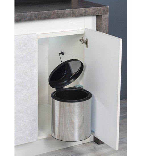 Кухненски кош за вграждане под мивка Lot хром 10 л