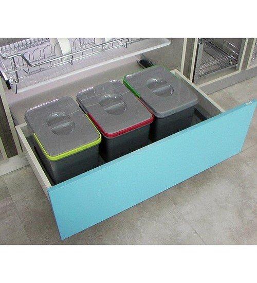 Кухненски кош за вграждане в шкаф Ralf 3 x 15