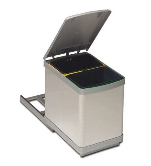 Кухненски кош за вграждане с две разделения 15 л