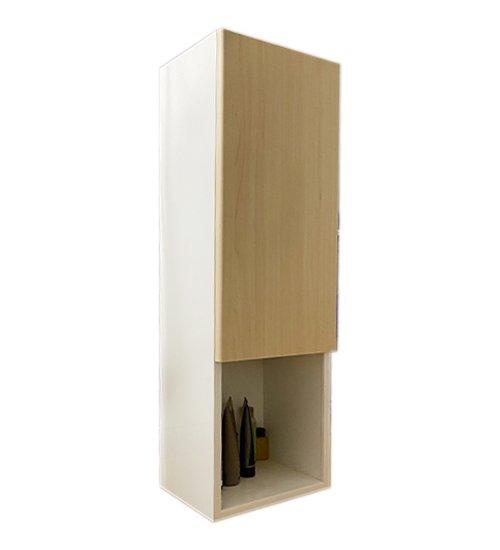 ПВЦ колона за баня дървесен декор бежова sd30