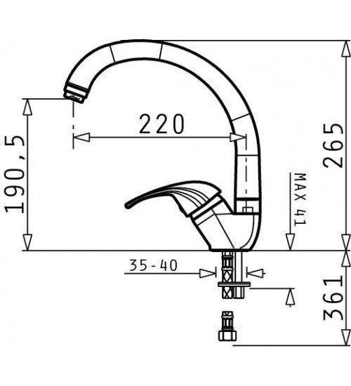 Комплект мивка Istros 61 х 50 и Смесител Mezzo за кухня