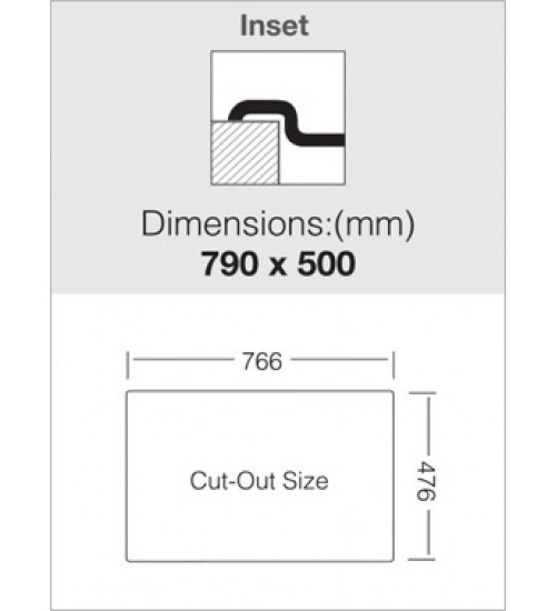 Алпака мивка за кухня за вграждане KR 79 х 50 см