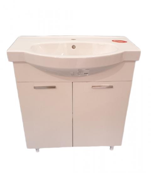 ПВЦ долен шкаф с мива за баня мирела 80 см