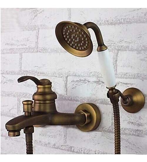 Ретро смесител за вана/душ в златно Este