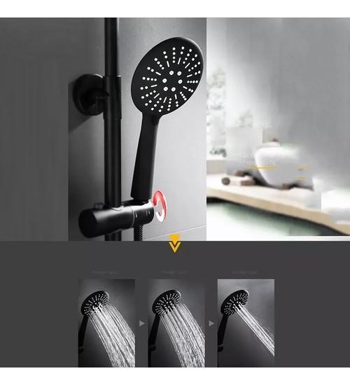 Черен душ комплект, смесител за баня Maroco