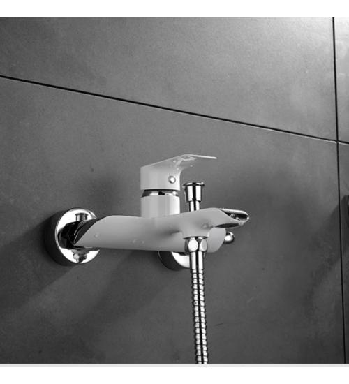 Смесител за вана/душ бял за баня Paris