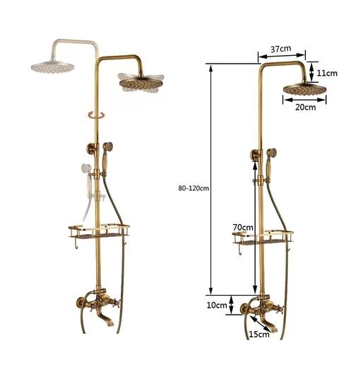 Комплект душ/смесител за баня ретро Madrid