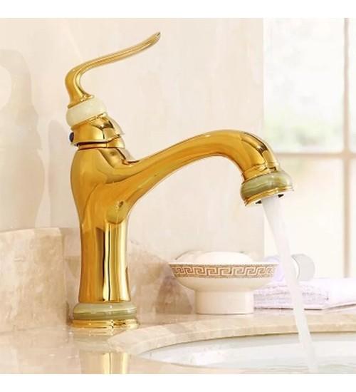 Стоящ смесител за баня в златно Лукс