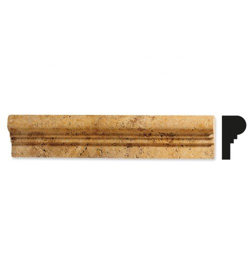 Травертин - естествен камък фриз в бежово 30 см